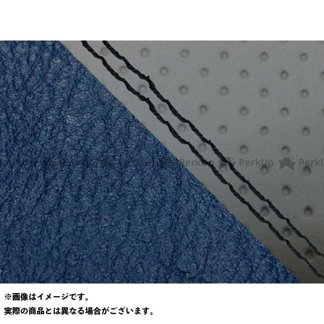 Grondement CBR1000RRファイヤーブレード シート関連パーツ CBR1000RR(SC57) 国産シートカバー 張替 エンボス灰&ネイビー 仕様:黒ダブルステッチ 適合:シングル(フロント側) グロンドマン