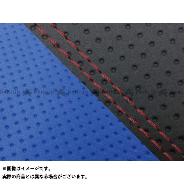 Grondement CBR1000RRファイヤーブレード シート関連パーツ CBR1000RR(SC57) 国産シートカバー 張替 エンボス黒&エンボス青 仕様:赤ダブルステッチ 適合:シングル(フロント側) グロンドマン
