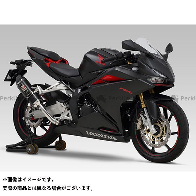 YOSHIMURA CBR250RR マフラー本体 Slip-On R-77S サイクロン カーボンエンド EXPORT SPEC 政府認証 サイレンサー:STBC(チタンブルーカバー/カーボンエンドタイプ) ヨシムラ