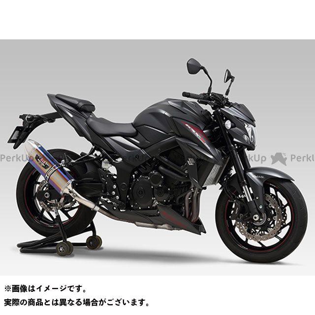 YOSHIMURA GSX-S750 マフラー本体 Slip-On R-77J サイクロン EXPORT SPEC 政府認証 サイレンサー:STBS(チタンブルーカバー/ステンレスエンドタイプ) ヨシムラ
