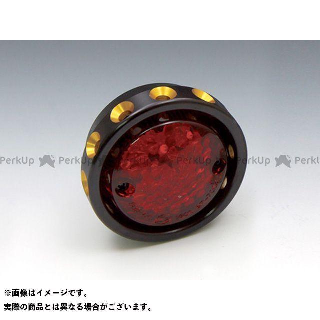 送料無料 EASYRIDERS 汎用 テール関連パーツ LEDドリルドテールライト(ブラック/ゴールド) レッド
