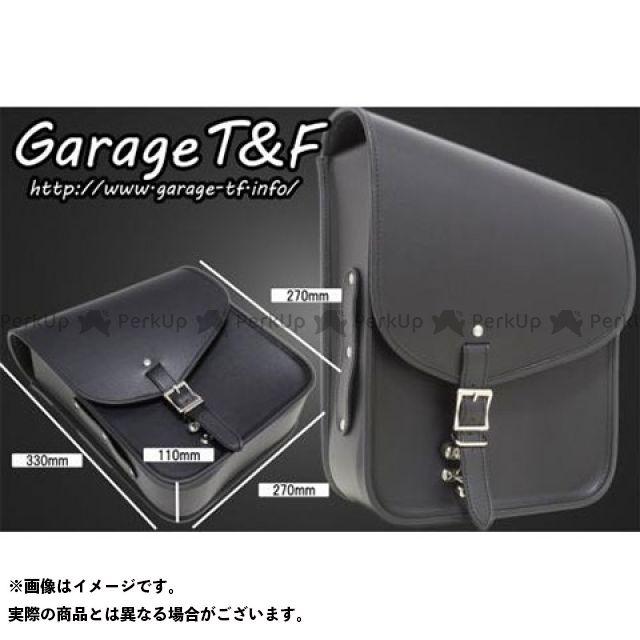 ガレージT&F ガレージティーアンドエフ ツーリング用バッグ サドルバック(ブラック) PVCモデル