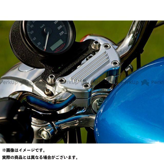 【無料雑誌付き】ミスミエンジニアリング ハーレー汎用 ハンドルポスト関連パーツ 7mmオフセットライザー メーターステーなし 60H カラー:シルバー ミスミ