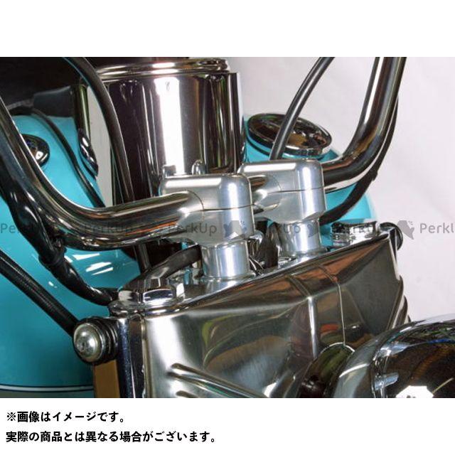 【無料雑誌付き】ミスミエンジニアリング ハーレー汎用 ハンドルポスト関連パーツ 15mmオフセットライザー 40H(ボルト付) カラー:シルバー ミスミ
