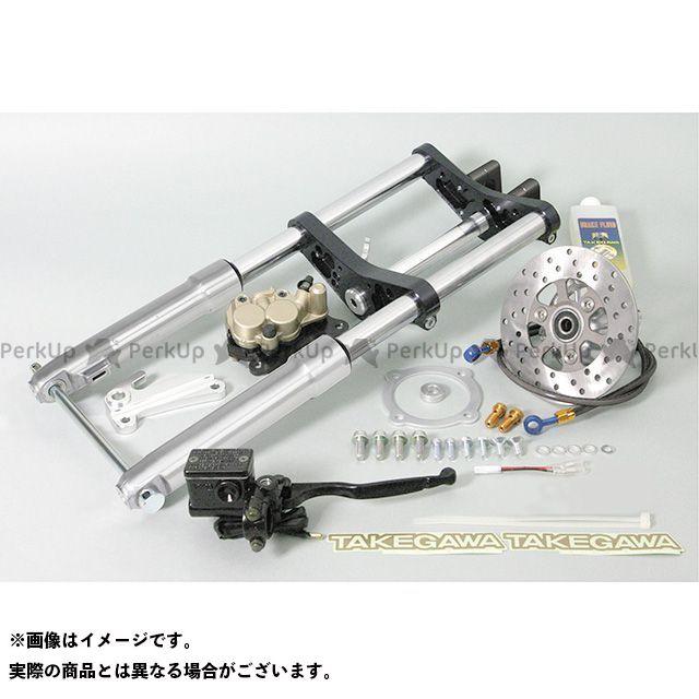 TAKEGAWA ゴリラ モンキー フロントフォーク φ27フロントフォークキット タイプ2(8インチ/バーハンドル/ディスク) ブラック 40mm SP武川