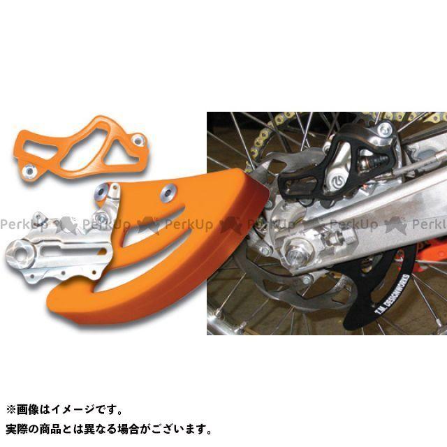 ケーティーエム汎用 T.M.DESIGNWORKS リアディスク&キャリパーガード その他ブレーキ用パーツ ハスクバーナ汎用 カラー:オレンジ TMデザイン