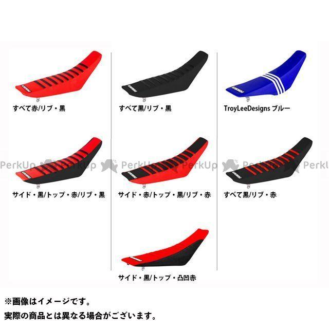 MOTO禅 CRF50F シート関連パーツ シートカバー Honda カラー:サイド・黒/トップ・凸凹赤 エンジョイMFG