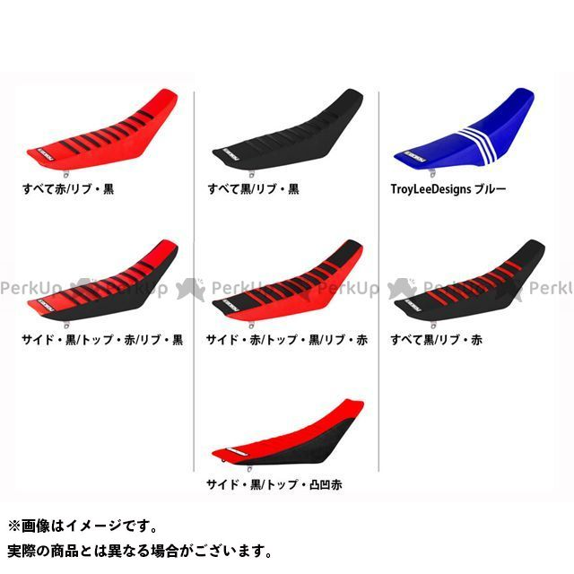 MOTO禅 CRF450R シート関連パーツ シートカバー Honda すべて:黒/リブ:赤