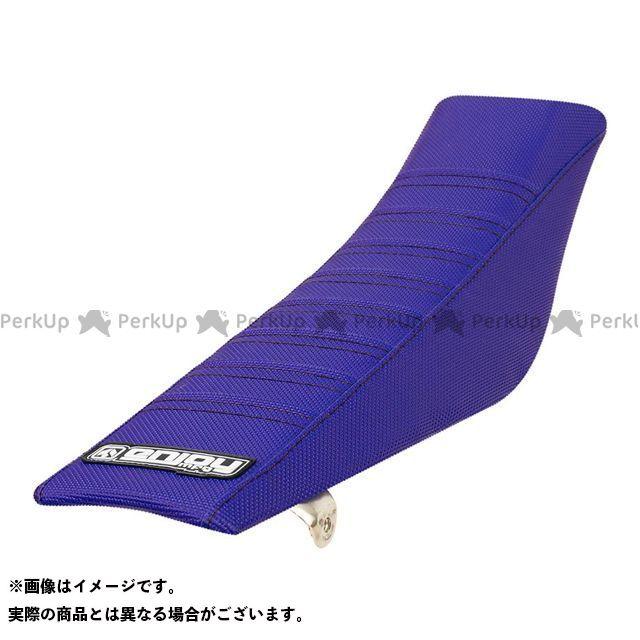 MOTO禅 TT-R90 シート関連パーツ シートカバー Yamaha カラー:サイド:青/凸凹:青 エンジョイMFG