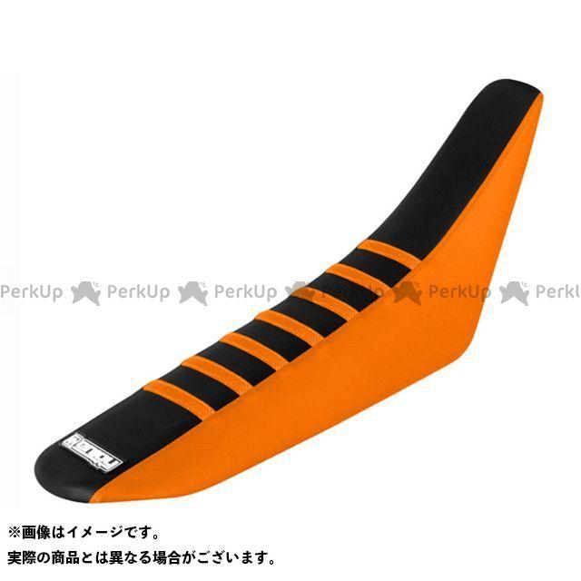 MOTO禅 シート関連パーツ シートカバー KTM カラー:サイド:オレンジ/トップ:黒/リブ:オレンジ エンジョイMFG