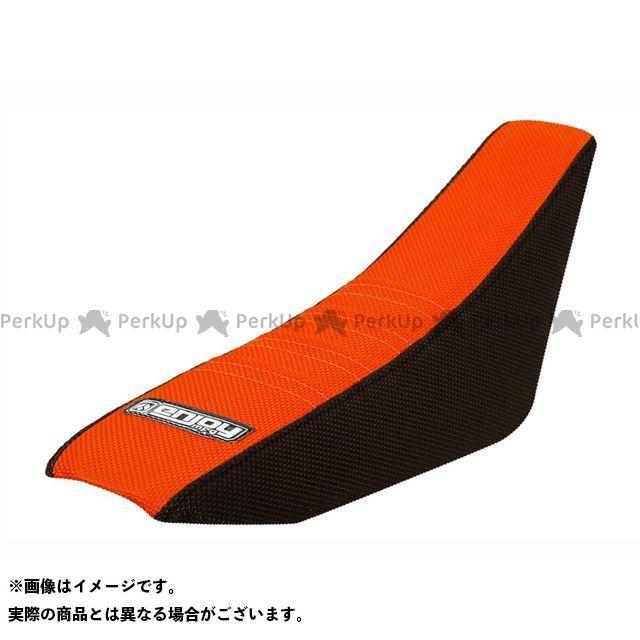 MOTO禅 150 XC シート関連パーツ シートカバー KTM すべて:黒/トップ:オレンジ凸凹 エンジョイMFG