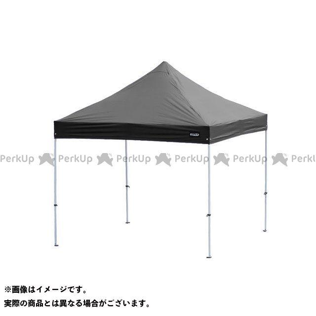 unit モトクロス雑貨 キャノピー スチール 3m×3m(ブラック) ユニット