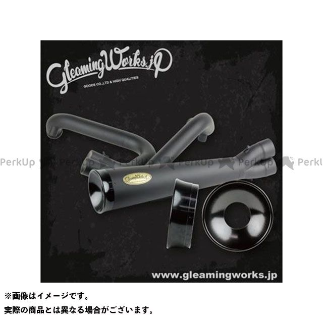 【無料雑誌付き】GLEAMING WORKS マフラー本体 SUS バリトンマフラー2in1 for XL カラー:ブラック 年式:2004-2006 グリーミングワークス