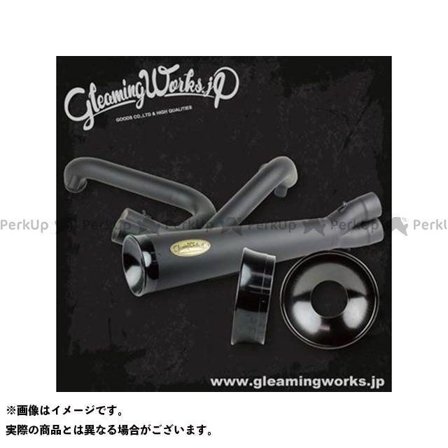 GLEAMING WORKS マフラー本体 SUS バリトンマフラー2in1 for XL カラー:ブラック 年式:2007-2013 グリーミングワークス