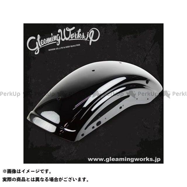 【エントリーで最大P21倍】GLEAMING WORKS フェンダー ショートリブフェンダー XL(04-06/10-17)サイドホール ブラック塗装仕上 グリーミングワークス