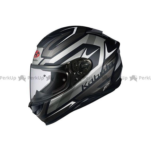 送料無料 OGK KABUTO オージーケーカブト フルフェイスヘルメット AEROBLADE-5 RUSH(エアロブレード・ファイブ ラッシュ) フラットブラック/シルバー XL/61-62cm未満