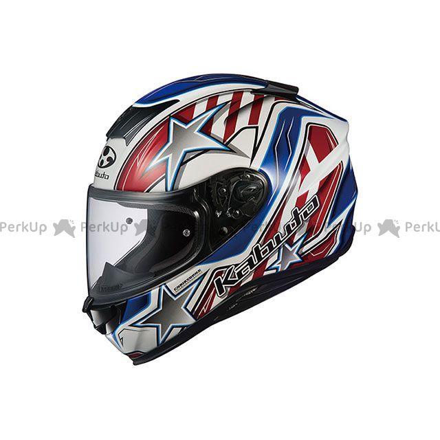 送料無料 OGK KABUTO オージーケーカブト フルフェイスヘルメット AEROBLADE-5 VISION(エアロブレード・ファイブ ヴィジョン) ホワイト/ブルー/レッド L/59-60cm