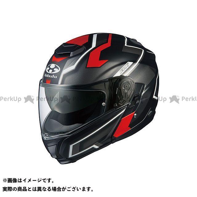 送料無料 OGK KABUTO オージーケーカブト システムヘルメット(フリップアップ) IBUKI DARK(イブキ・ダーク) フラットブラック/レッド S/55-56cm