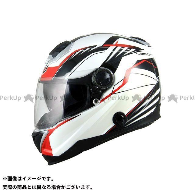 ZEALOT ジーロット フルフェイスヘルメット BullRaider(ブルレイダー) GRAPHIC ホワイト/レッド L/59-60cm