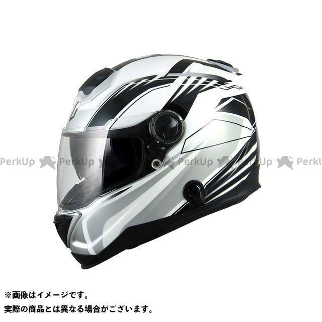 ZEALOT ジーロット フルフェイスヘルメット BullRaider(ブルレイダー) GRAPHIC ホワイト/シルバー S/55-56cm