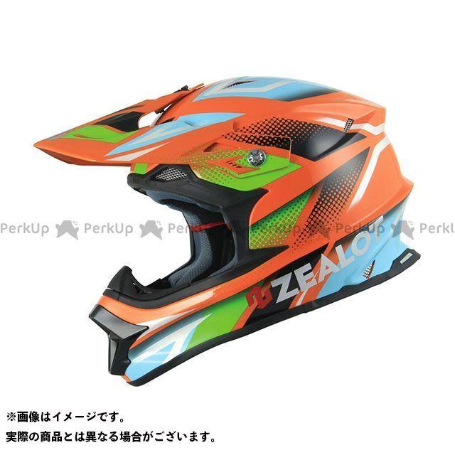 ジーロット オフロードヘルメット MadJumper(マッドジャンパー) GRAPHIC オレンジ/ブルー サイズ:XL/61-62cm ZEALOT