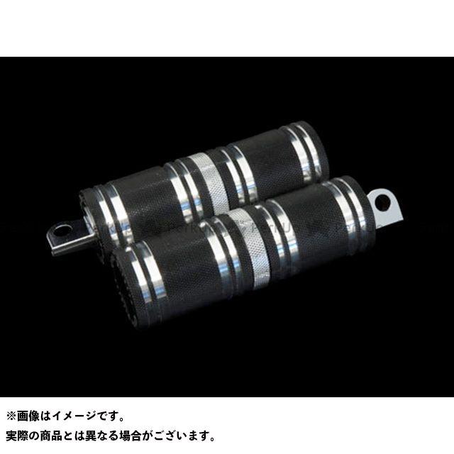 【無料雑誌付き】CYCLEPIRATES ハーレー汎用 ステップ ファットフットペグロング カラー:ブラック/クロームアクセント サイクルパイレーツ