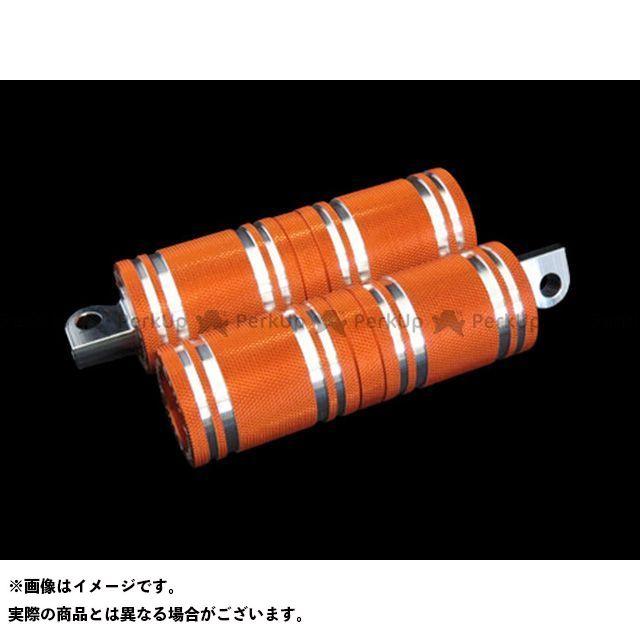 【無料雑誌付き】CYCLEPIRATES ハーレー汎用 ステップ ファットフットペグロング カラー:オレンジ サイクルパイレーツ