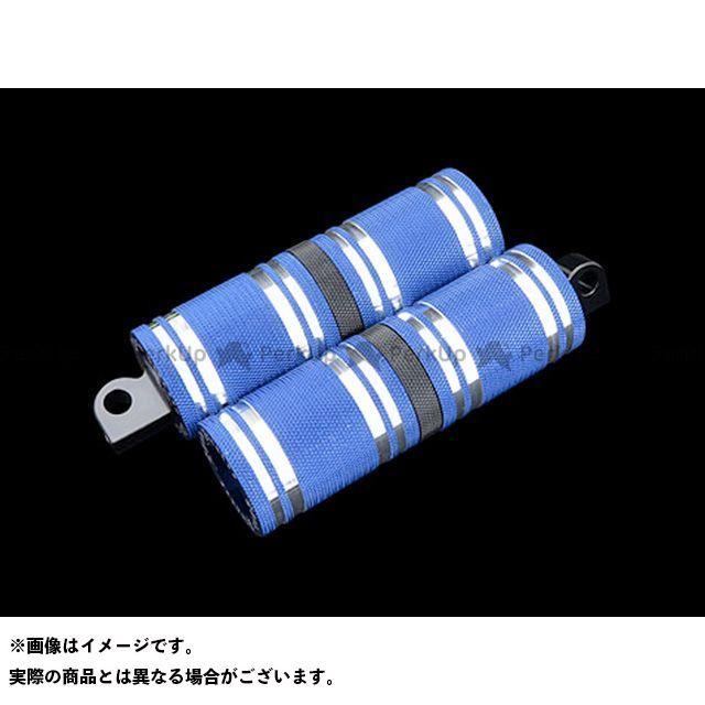 【無料雑誌付き】CYCLEPIRATES ハーレー汎用 ステップ ファットフットペグロング カラー:ブルーアルマイト/ブラックアクセント サイクルパイレーツ