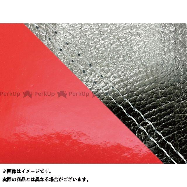 Grondement FZ1フェザー(FZ-1S) シート関連パーツ FZ1 フェザー(10年~)シングル(フロント側) グロンドマン国産シートカバー 張替(黒・エナメルレッド) 仕様:透明ダブルステッチ グロンドマン