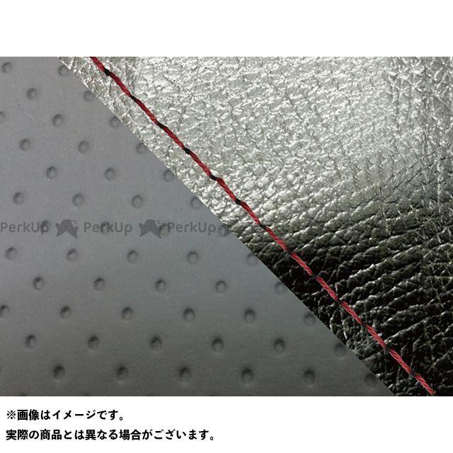 Grondement FZ1フェザー(FZ-1S) シート関連パーツ FZ1 フェザー(10年~)シングル(フロント側) グロンドマン国産シートカバー 張替(黒・エンボスグレー) 仕様:赤ステッチ グロンドマン
