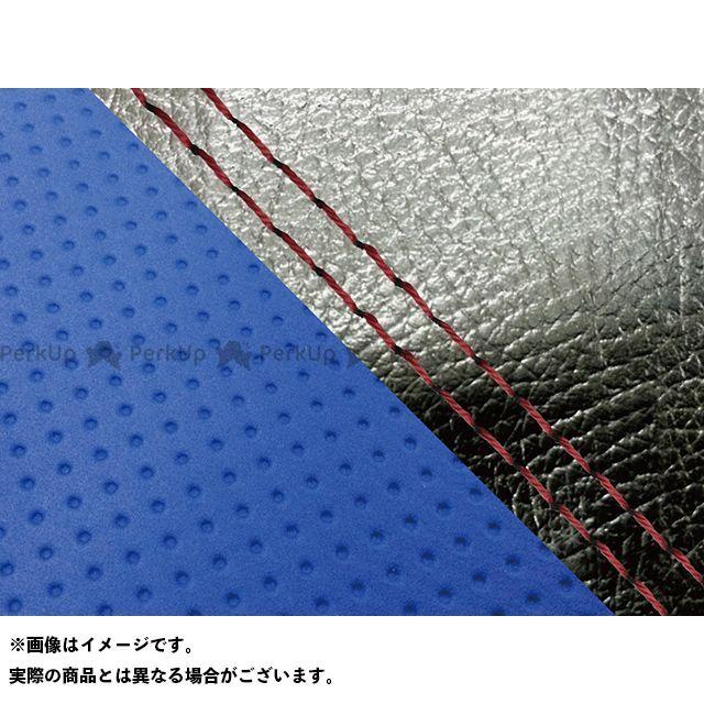 Grondement FZ1フェザー(FZ-1S) シート関連パーツ FZ1 フェザー(10年~)シングル(フロント側) グロンドマン国産シートカバー 張替(黒・エンボスブルー) 仕様:赤ダブルステッチ グロンドマン