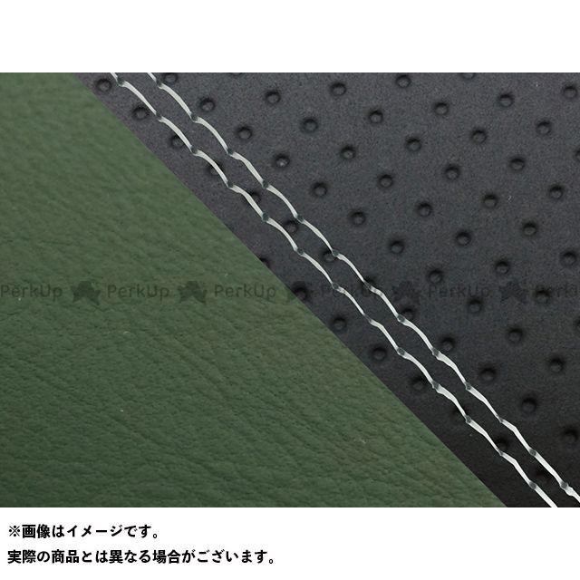 Grondement FZ1フェザー(FZ-1S) シート関連パーツ FZ1 フェザー(10年~)シングル(フロント側) グロンドマン国産シートカバー 張替(エンボス黒・ダークグリーン) 仕様:透明ダブルステッチ グロンドマン