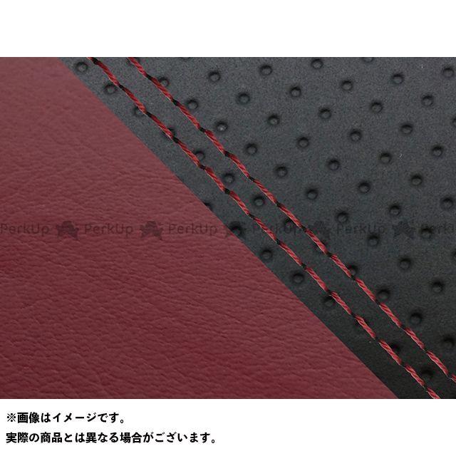 Grondement FZ1フェザー(FZ-1S) シート関連パーツ FZ1 フェザー(10年~)シングル(フロント側) グロンドマン国産シートカバー 張替(エンボス黒・ワインレッド) 仕様:赤ダブルステッチ グロンドマン