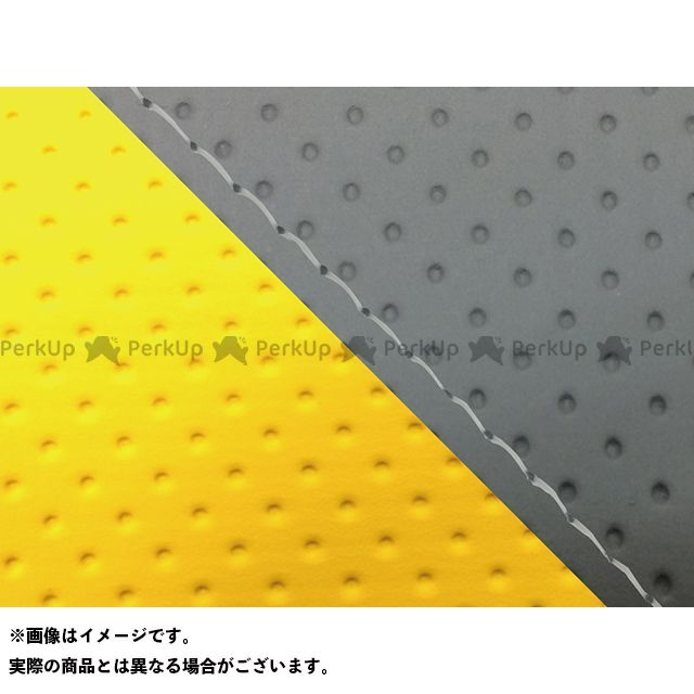 Grondement FZ1フェザー(FZ-1S) シート関連パーツ FZ1 フェザー(10年~)シングル(フロント側) グロンドマン国産シートカバー 張替(エンボスグレー・エンボスイエロー) 仕様:透明ステッチ グロンドマン