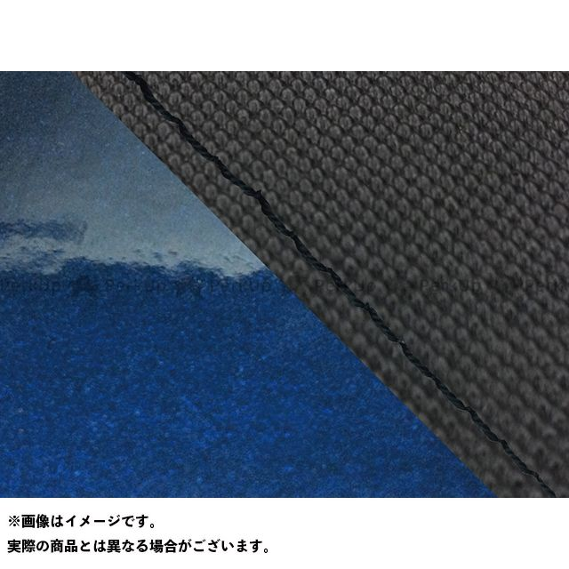 Grondement FZ1フェザー(FZ-1S) シート関連パーツ FZ1 フェザー(10年~)シングル(フロント側) グロンドマン国産シートカバー 張替(スベラーヌブラック・エナメルメタリックブルー) 仕様:黒ステッチ グロンドマン