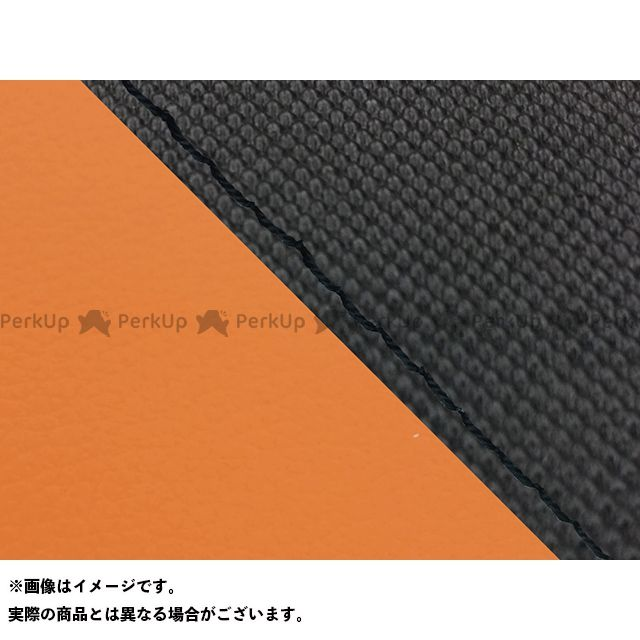 Grondement FZ1フェザー(FZ-1S) シート関連パーツ FZ1 フェザー(10年~)シングル(フロント側) グロンドマン国産シートカバー 張替(スベラーヌブラック・オレンジ) 仕様:黒ステッチ グロンドマン