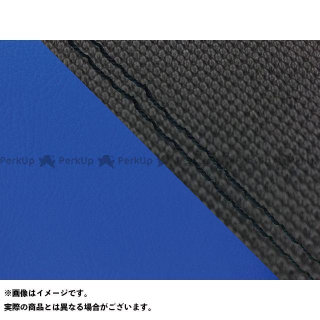 Grondement FZ1フェザー(FZ-1S) シート関連パーツ FZ1 フェザー(10年~)シングル(フロント側) グロンドマン国産シートカバー 張替(スベラーヌブラック・青) 仕様:黒ダブルステッチ グロンドマン