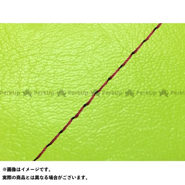 Grondement レブル250 シート関連パーツ レブル250(MC13)前後/ベルト付 グロンドマン国産シートカバー 張替(ライムグリーン) 仕様:赤ステッチ グロンドマン