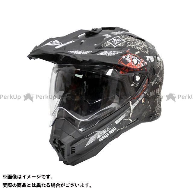 THH ティーエイチエイチ オフロードヘルメット TX-27 オフロードヘルメット(パイレーツ マットブラック/レッド) XL