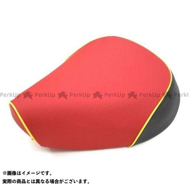 Grondement クロスカブ110 シート関連パーツ クロスカブ(JA10/CC110) 国産シートカバー エンボスレッド タイプ:被せ 仕様:黄パイピング グロンドマン