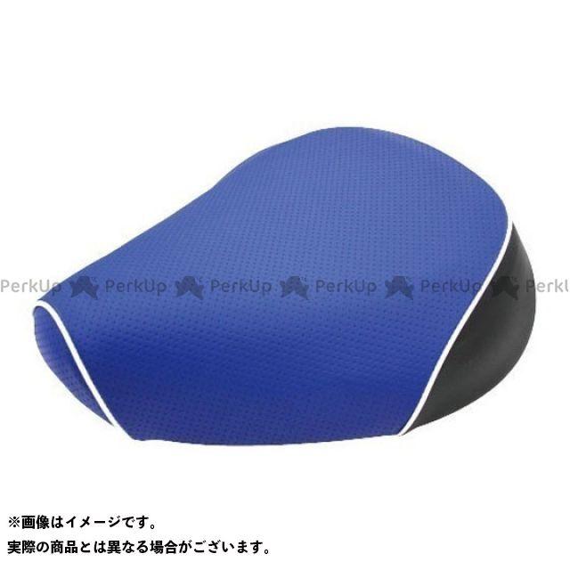 Grondement クロスカブ110 シート関連パーツ クロスカブ(JA10/CC110) 国産シートカバー エンボス青 タイプ:被せ 仕様:白パイピング グロンドマン