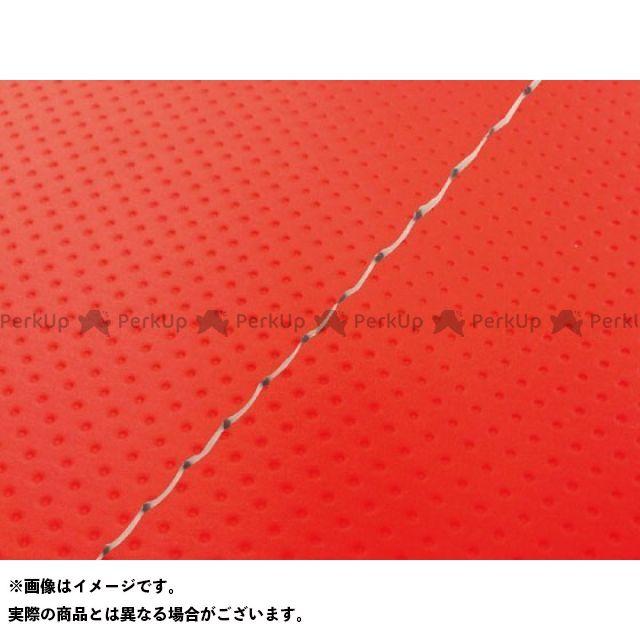 Grondement クロスカブ110 シート関連パーツ クロスカブ(JA10/CC110) 国産シートカバー フルエンボスレッド タイプ:被せ 仕様:透明ステッチ グロンドマン