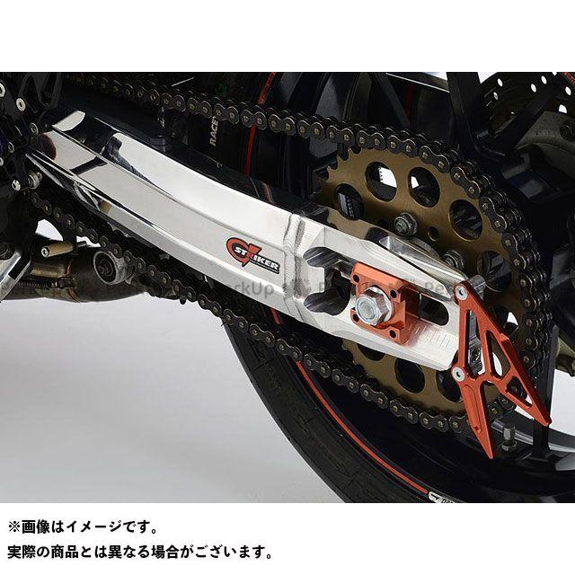 STRIKER ニンジャ900 スイングアーム G-STRIKER スイングアーム STDホイール(アクスル径φ20)用 表面仕上げ:セラコートBK チェーンアジャスター部:レッド ストライカー