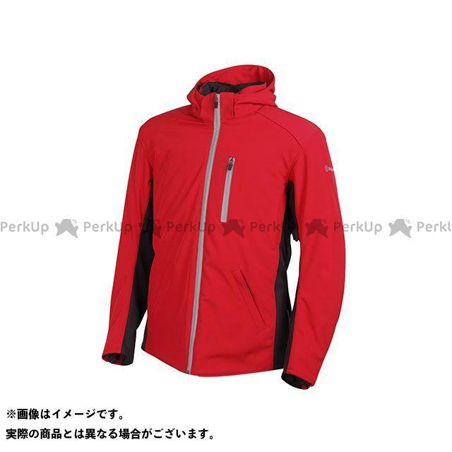 DEGNER ジャケット 【特価品】17WJ-11 メンズフード付ソフトシェルジャケット(レッド) サイズ:L DEGNER