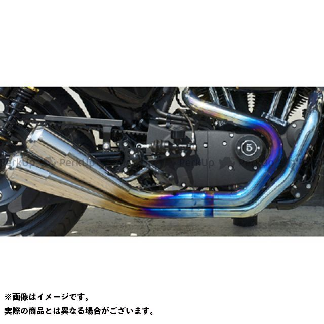 【エントリーで更にP5倍】Tramp Cycle スポーツスターファミリー汎用 マフラー本体 TMF-058E Fulltitanium Muffler Dual トランプ