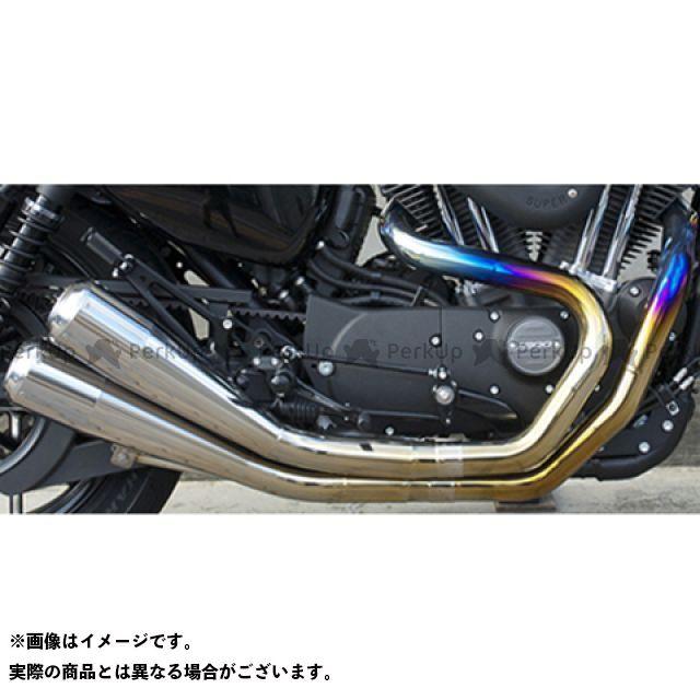 Tramp Cycle スポーツスターファミリー汎用 マフラー本体 TMF-062E GlowEmit Fulltitanium Muffler Dual トランプ