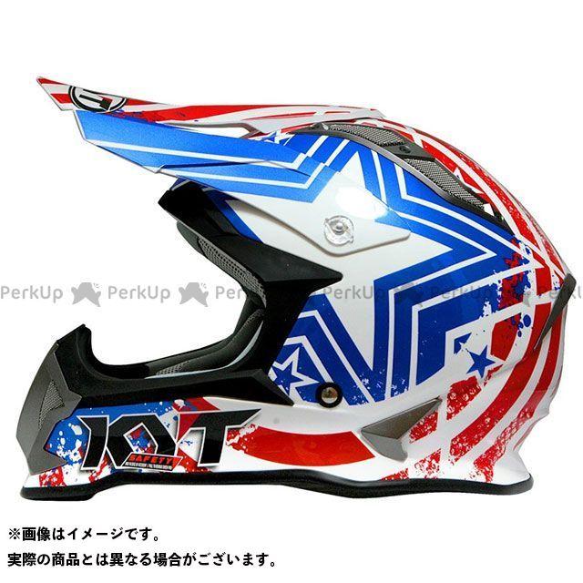 送料無料 KYT ケーワイティー オフロードヘルメット STRIKE EAGLE パトリオット(ブルー/レッド) 限定モデル S/55-56cm