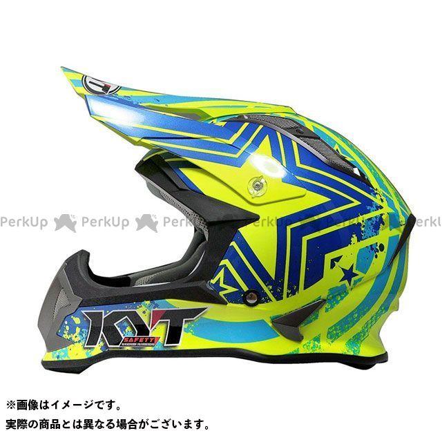 送料無料 KYT ケーワイティー オフロードヘルメット STRIKE EAGLE パトリオット(ブルー/イエロー) 限定モデル S/55-56cm