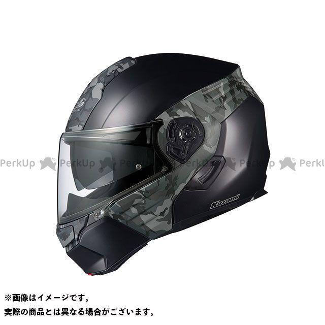 送料無料 OGK KABUTO オージーケーカブト システムヘルメット(フリップアップ) KAZAMI CAMO(カザミ・カモ) フラットブラック/グレー XL/61-62cm未満