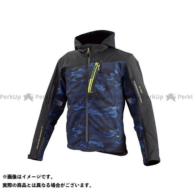 KOMINE ジャケット JK-590 プロテクトソフトシェルウインターパーカ(ブルーカモ/ブラック) サイズ:3XL コミネ